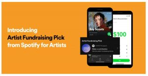Spotify inicia fan fundraising